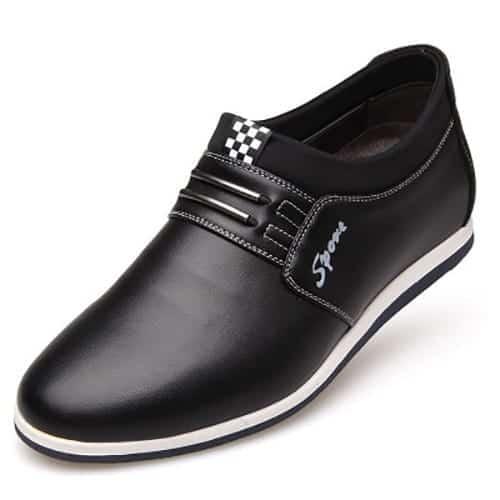 cmbl 5cm taller shoes black single 1 - CMBL - Casual Shoes 5cm Taller