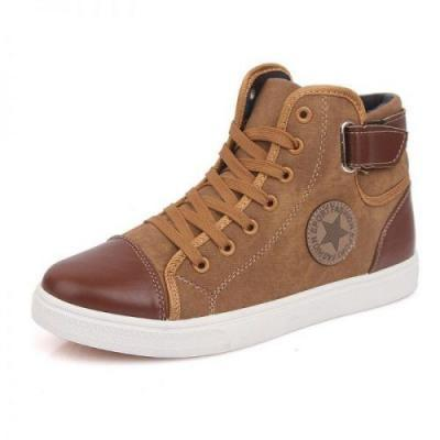 New 2015 Autumn Winter Shoes For Men Casual Shoes Canvas Fashion High Top Men Footwear High 400x400 - HITP 122 Winter High top 6.5cm Taller
