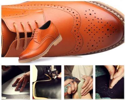 attixshoes stylish brogue 8cm taller 4 400x320 - MIGL - Brogue Handmade Leather Shoes 8cm Taller