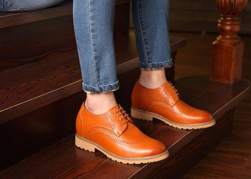 attixshoes stylish brogue 8cm taller 6 1 - MIGL - Brogue Handmade Leather Shoes 8cm Taller