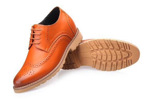 attixshoes stylish brogue 8cm taller 8 02 1 - MIGL - Brogue Handmade Leather Shoes 8cm Taller