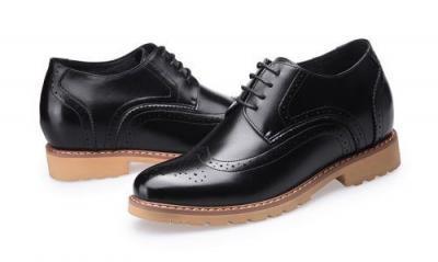 attixshoes stylish brogue 8cm taller black8 01 400x239 - MIGL - Brogue Handmade Leather Shoes 8cm Taller
