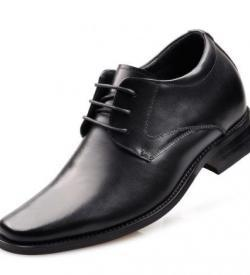CLASQ 8CM TALLER BLACK LEATHER MAIN 250x275 - CLASQ - Classic 8cm Taller Shoes