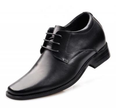 CLASQ 8CM TALLER BLACK LEATHER MAIN 400x374 - CLASQ - Classic 8cm Taller Shoes