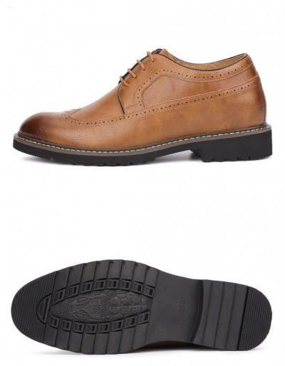 LHS BEIGE BROGUE 2 400x515 - LHS - Brogue Shoes 8cm Taller
