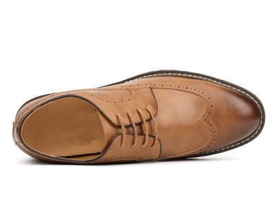 LHS BEIGE BROGUE B1 400x306 - LHS - Brogue Shoes 8cm Taller