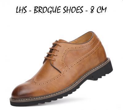 LHS BEIGE BROGUE MAIN ATTIXSHOES 400x355 - LHS - Brogue Shoes 8cm Taller