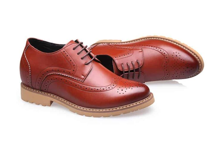 MIGL 8 CM ELEVATOR LIFT SHOES BROWN 6 1 750x503 - MIGL - Brogue Handmade Leather Shoes 8cm Taller