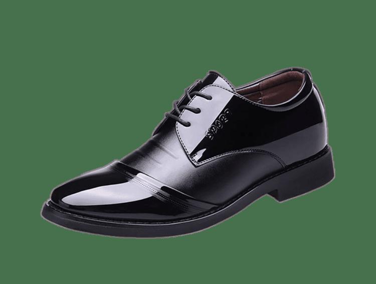 ELPT 6CM INCREASE BLACK 2 1 750x566 - ELPT - Elegant Leather Shoes - 6cm Taller