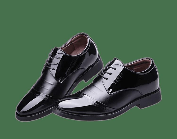 ELPT 6CM INCREASE BLACK 3 1 750x586 - ELPT - Elegant Leather Shoes - 6cm Taller