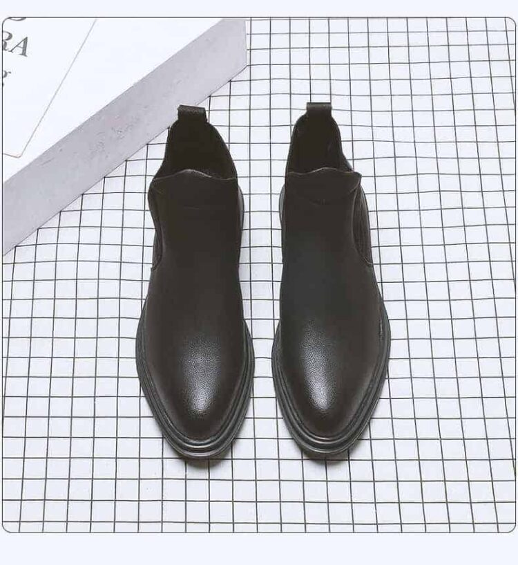 bts black boots 4 1 750x817 - BTS- Leather Boots 5 cm Taller