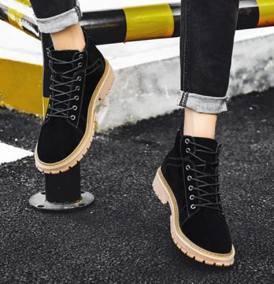 SUEL Black 10cm 3 400x414 - SUEL- 8cm Taller Boots