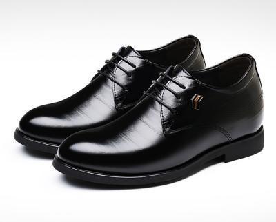 TXFS 8cm Black 1 400x322 - TXFS Leather Shoes 8cm Taller