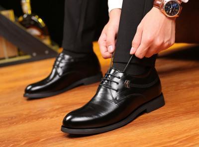 TXFS 8cm Black 4 400x297 - TXFS Leather Shoes 8cm Taller