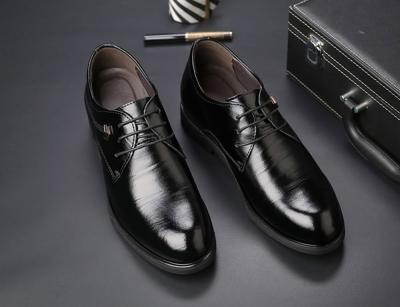TXFS 8cm Black Brown 2 01 400x307 - TXFS Leather Shoes 8cm Taller