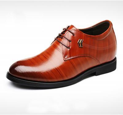 TXFS 8cm Brown 1 400x374 - TXFS Leather Shoes 8cm Taller