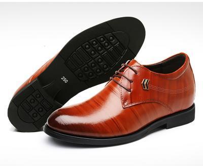 TXFS 8cm Brown 2 400x328 - TXFS Leather Shoes 8cm Taller