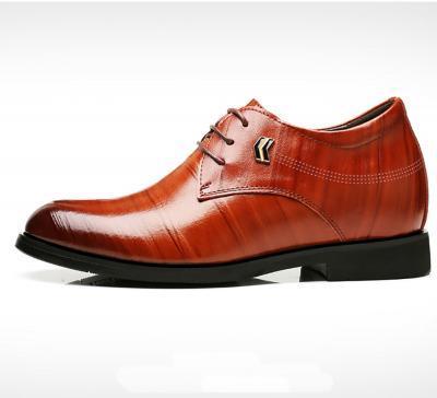 TXFS 8cm Brown 3 400x364 - TXFS Leather Shoes 8cm Taller