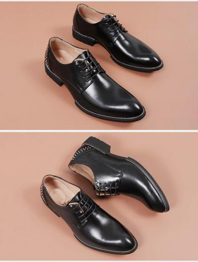 ATX 5cm black grey brown attix shoes 1 400x528 - FBBX - Leather Shoes 7cm Taller