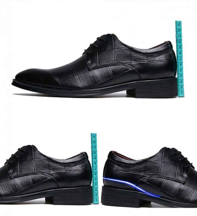 ATX 5cm black grey brown attix shoes 12 2 750x824 - ABFS - Black Leather Shoes 6 cm Taller