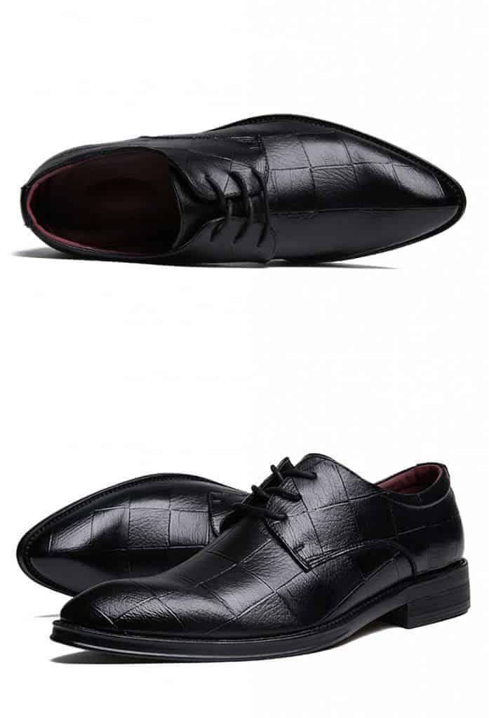 ATX 5cm black grey brown attix shoes 13 2 - ABFS - Black Leather Shoes 6 cm Taller