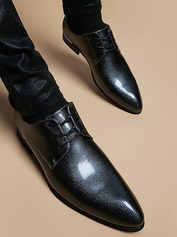 ATX 5cm black grey brown attix shoes 15 2 570x760 - AGFS - Grey Fashion Shoes 7cm Taller