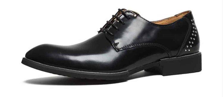 ATX 5cm black grey brown attix shoes 7 2 750x327 - FBBX - Leather Shoes 7cm Taller