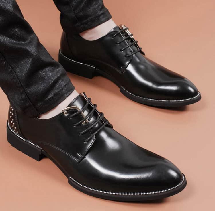 ATX 5cm black grey brown attix shoes 8 1 1 750x737 - FBBX - Leather Shoes 7cm Taller