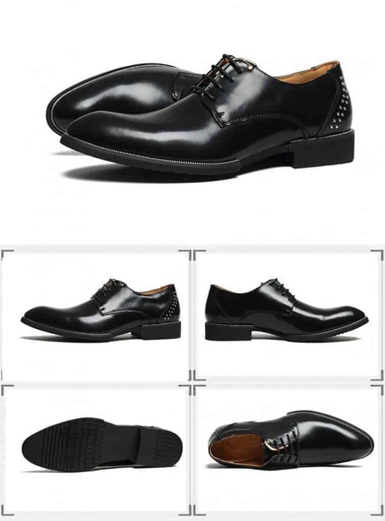 ATX 5cm black grey brown attix shoes 9 1 1 750x1016 - FBBX - Leather Shoes 7cm Taller